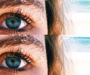 beach, olhos, and praia image
