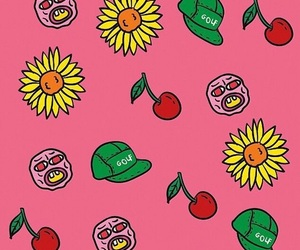 cherry bomb, art, and pink image