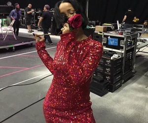 rihanna, red, and rose image
