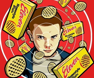 eleven, mike, and eggos image