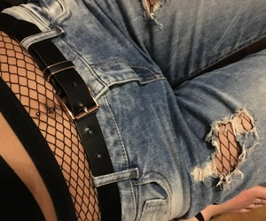belly, fashion, and jeans image