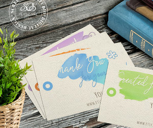 thank you cards, printable labels, and gift tags image