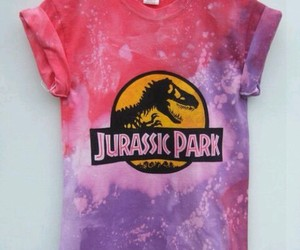 Jurassic Park, pink, and t shirt image