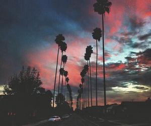 sunset, sky, and grunge image