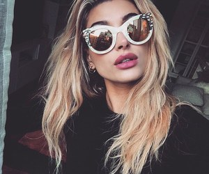 hailey baldwin, model, and sunglasses image