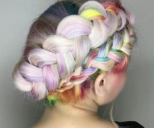 braid, hair style, and colorful image