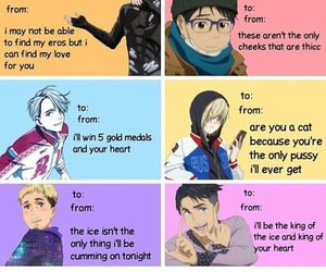 anime, chris, and valentines day cards image