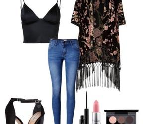 kimono, mac cosmetics, and pink image