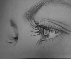 eyes and drawing image