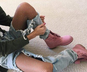 clothing, timberlands, and fashion image