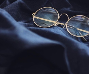 glasses, aesthetic, and blue image