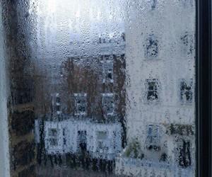 rain, window, and grunge image