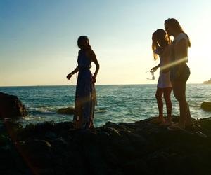 beach, bikinis, and rays image