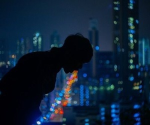 boy, light, and city image