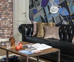modern interior design, living room, and loft image