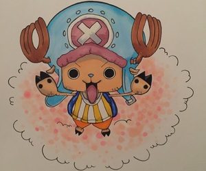 anime, chopper, and drawing image