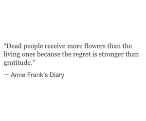 anne frank, death, and flowers image