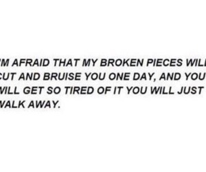quote, broken, and bruise image
