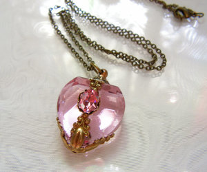 accesories, heart, and necklace image