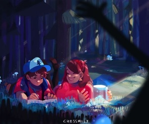 twins, gravity falls, and dipper pines image