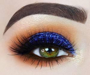 beautiful, makeup, and blue image