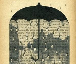 rain, book, and umbrella image