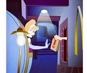 cinderella, princess, and McDonalds image