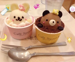 food, kawaii, and ice cream image