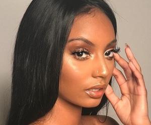 girl, makeup, and melanin image