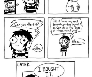 comic, funny, and shopping image