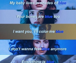 halsey, blue, and melanie martinez image