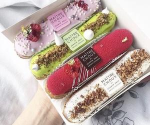 dessert, eclair, and maitre choux image