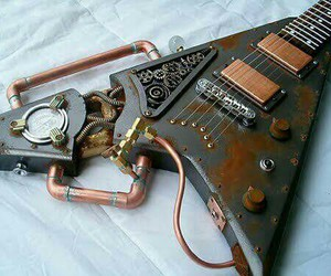 steampunk and guitar image