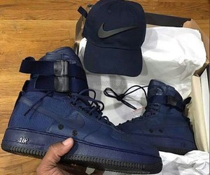shoes, air force 1, and blue image