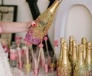 pink, gold, and happy new year image