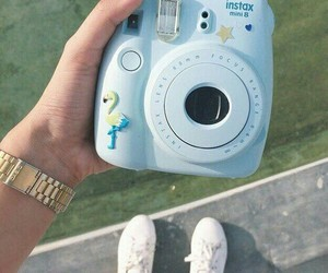 camera, blue, and photography image