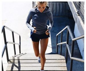running, fit, and girl image