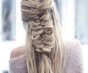 braid, hair, and girl image