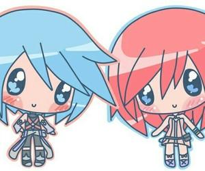 aqua, anime girls, and chibi image