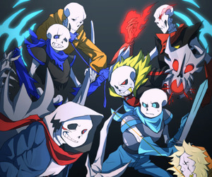 papyrus, underfell, and sans image
