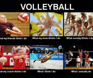 funny, volleyball, and volleyball player image