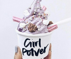 food, ice cream, and girl power image