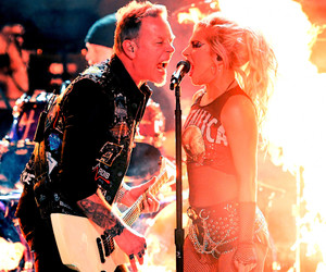grammys, James Hetfield, and Lady gaga image