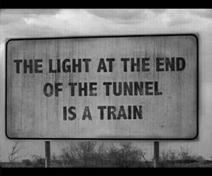 quote, light, and train image