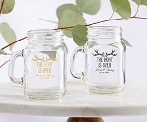 rustic wedding favors, the hunt is over, and the hunt is over favors image