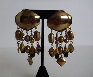 boho, fashion, and dangling earrings image