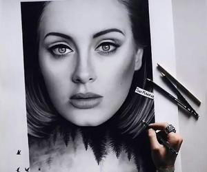 Adele, art, and drawing image