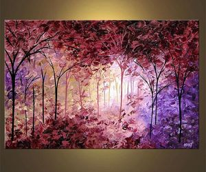 etsy, modern painting, and tree painting image