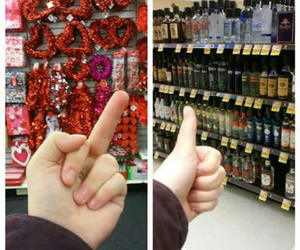 angry, valentines, and alcohol image
