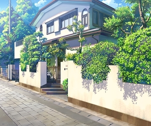 anime and house image